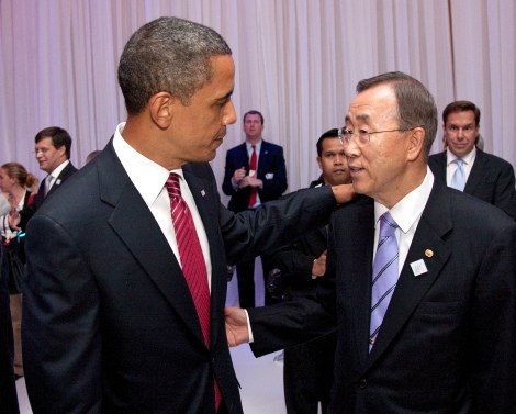 Secretary-General speaks with the President the United States