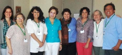 Mexican HLP member Amb Patricia Espinosa with FemTaskForce at Guadalajara meeting of HLP, March 18, 2013