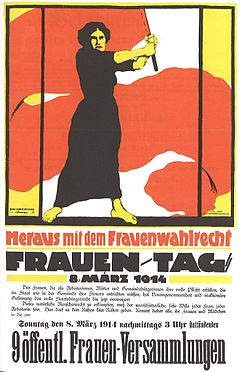 German poster for International Women's Day, March 8th, 1914