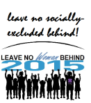 Leave No socially excluded  Behind logo